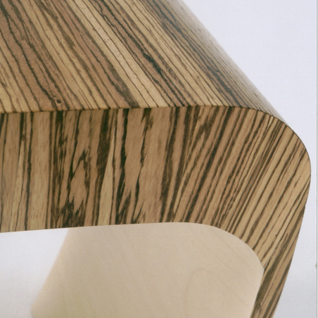 Zebrano and Sycamore Contemporary Stool.